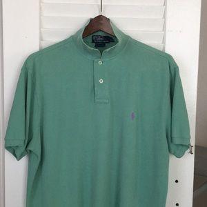 Polo by Ralph Lauren mint green custom fit. Xl
